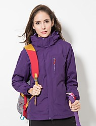 cheap -LEIBINDI Women's Hiking 3-in-1 Jackets Outdoor Winter Quick Dry Windproof Rain-Proof Stretchy Top Single Slider Waterproof Climbing
