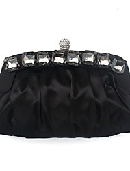cheap -Women Bags Silk Evening Bag Beading Ruffles for Wedding Event/Party All Seasons Black Purple Yellow Wine Khaki