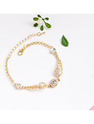 abordables -Femme Fille Strass Chaînes & Bracelets Bracelets de tennis - Mode Irrégulier Or Bracelet Pour Anniversaire Cadeau Quotidien