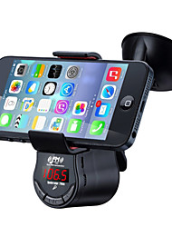 cheap -FM09 Multi function Handsfree Car Kit FM Transmitter MP3 Audio Player with Car Suction Holder Mount for Mobile Phone GPS
