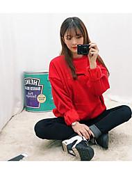 Sweatshirt Femme Décontracté / Quotidien Lettre Col Arrondi non élastique Coton Manches longues Printemps Automne