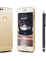 Недорогие -Назначение iPhone X iPhone 8 Чехлы панели Защита от удара Покрытие Зеркальная поверхность Задняя крышка Кейс для Сплошной цвет Твердый