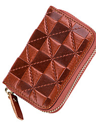 cheap -Women Bags Cowhide Coin Purse Zipper for Event/Party Office & Career All Seasons Blue Black Red Coffee Brown