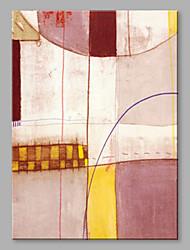 Недорогие -Hang-роспись маслом Ручная роспись - Абстракция Художественный холст