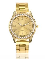 abordables -Mujer Cuarzo Reloj creativo único Reloj de Pulsera Reloj de Vestir Reloj de Moda Chino Gran venta Aleación Banda Casual Plata Dorado Oro