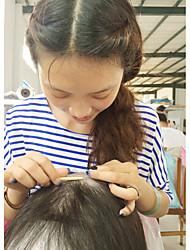 preiswerte -Echthaar Vollspitze Perücke Brasilianisches Haar Glatt Perücke Mit Strähnen 130% Afro-amerikanische Perücke / 100% Jungfrau / 100 % von Hand geknüpft Damen Medium Echthaar Perücken mit Spitze