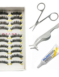 cheap -Eyelashes lash Full Strip Lashes Eyes Thick Lengthens the End of the Eye The End Is Longer Fiber Black Band