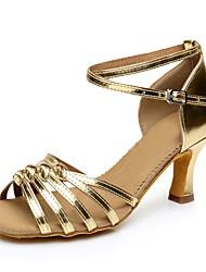 Women's PVC Leather Heel Professional High Heel Gold Silver Customizable