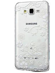 Custodia Per Samsung Galaxy J7 (2017) J3 (2017) Transparente Fantasia/disegno Custodia posteriore La stampa in pizzo Morbido TPU per J7 V