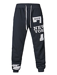 cheap -Men's Mid Rise Micro-elastic Harem Chinos Sweatpants Pants,Casual Letter Spring Fall