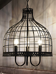 cheap -American Creative Birdcage Chandelier Industrial Wind Restoring Ancient Ways Wrought Iron Net Cafe Restaurant Clothing Store Decca