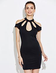 levne -Dámské Elegantní & moderní Šaty - Jednobarevné Pevná barva, Čistá barva Mini