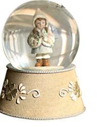 abordables -Balles Boîte à musique Jouets Articles d'ameublement Circulaire Cristal Romantique Pièces Unisexe Anniversaire Cadeau