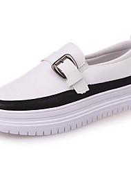 Women's Loafers & Slip-Ons Comfort Fall PU Dress Flat Heel Beige Black 2in-2 3/4in