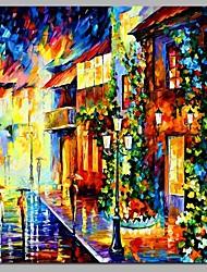 economico -decorazione di parete di strada di crepuscolo dipinto a mano dipinti ad olio contemporanei arte moderna parete