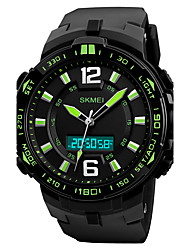 cheap -SKMEI Men's Sport Watch Military Watch Wrist watch Japanese Quartz LED Calendar Chronograph Water Resistant / Water Proof Three Time