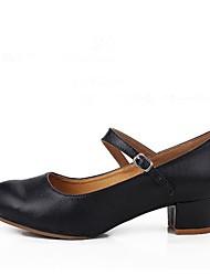 Damen Modern Leder Absätze Im Freien Maßgefertigter Absatz Schwarz 2,5 - 4,5 cm 5 - 6,8 cm Maßfertigung