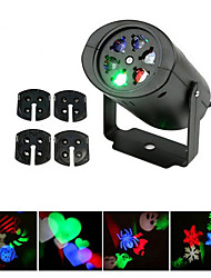 YWXLight® 3W EU US Plug NO-Waterproof  Snowflake Christmas Projector Light for Home Garden Landscape Lighting Pattern LED Projection Light 1PCS