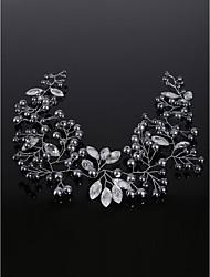 economico -copricapo di strass perla imitazione classica stile femminile
