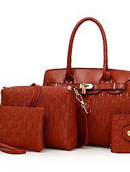 Damen Taschen Ganzjährig PU Bag Set Reißverschluss für Normal Gold Weiß Schwarz Rote Braun