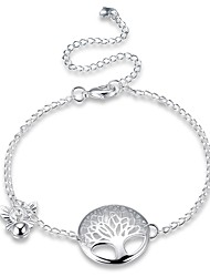 Women's Anklet/Bracelet Silver Plated Fashion Vintage Punk Personalized Hypoallergenic Geometric Irregular Tree of Life Jewelry For Gift