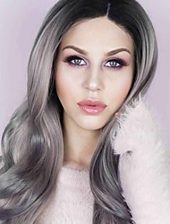 cheap -Uniwigs Women Synthetic Wig Lace Front Long Wavy Grey Natural Wigs Costume Wig