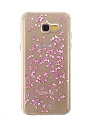 cheap -Case For Samsung Galaxy A5(2017) A3(2017) Translucent Back Cover Heart Glitter Shine Soft TPU for A3(2017) A5(2017)