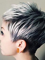 cheap -Human Hair Capless Wigs Human Hair Straight Dark Roots Ombre Hair Short Machine Made Wig Women's