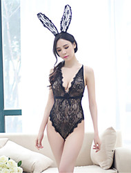 Women's Uniforms & Cheongsams Lace Lingerie Ultra Sexy Nightwear,Sexy Lace Solid-Thin Spandex