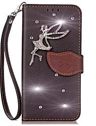 economico -Custodia Per Apple iPhone X iPhone 8 A portafoglio Porta-carte di credito Con diamantini Con supporto Con chiusura magnetica Integrale