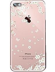 billige -taske til iphone 7 6 blomst tpu blød ultra-tynd bagcover cover til iphone 7 plus 6 6s plus se 5s 5 5c 4s 4