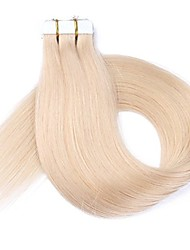 Tape in Hair Extensions Human Hair 16-20 inch 20pcs Seamless Skin Weft Remy Straight Hair