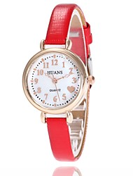 cheap -Women's Quartz Wrist Watch Chinese Hot Sale PU Band Charm Casual Dress Watch Elegant Fashion Black White Blue Red Brown Pink