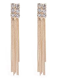 Women's Drop Earrings Rhinestone Tassel Fashion Rhinestone Alloy Geometric Jewelry For Party Halloween Gift Daily Ceremony Holiday Club