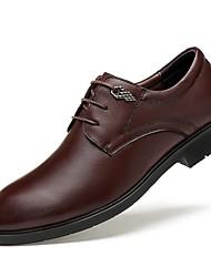 Herren Schuhe Echtes Leder Nappaleder Leder Herbst Winter Komfort formale Schuhe Tauchschuhe Outdoor Schnürsenkel Für Normal Schwarz Braun