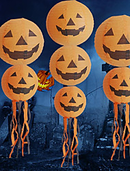 Pumpkin Light Halloween Decoration Hanging Paper Lantern20*20cm