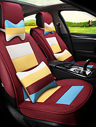 cheap -Flax Mosaic Rainbow Stripes Car Seat Cushion Seat Cover Seat Four Seasons General Surrounded By A Five Seat-Claret