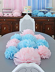 cheap -4 inch (Set of 10) - Tissue Pom Flowers DIY Wedding Decoration Beter Gifts® Party Supplies