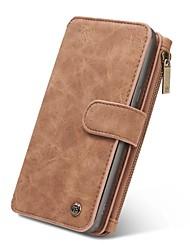 economico -Custodia Per Samsung Galaxy Note 8 Note 5 A portafoglio Porta-carte di credito Con chiusura magnetica A calamita Integrale Tinta unica
