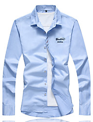 cheap -Men's Casual Plus Size Cotton Shirt Print