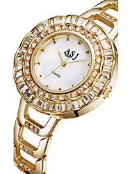 levne -ASJ Dámské Módní hodinky Náramkové hodinky japonština Křemenný Slitina Kapela Stříbro Zlatá