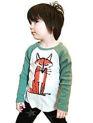 preiswerte -Jungen T-Shirt Tier-Druck Baumwolle Frühling Herbst Lange Ärmel Normal