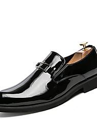 preiswerte -Herrn Schuhe Leder Frühling Sommer formale Schuhe Outdoor Niete für Hochzeit Party & Festivität Schwarz Gelb Blau