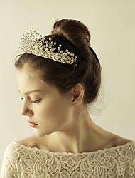 imitace perlové rhinestone tiaras čelenky headpiece elegantní styl