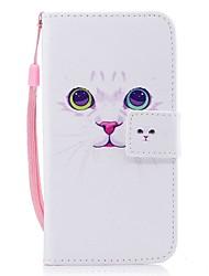 Case For Samsung Galaxy J7 (2017) J3 (2017) Wallet Card Holder Flip Pattern Magnetic Full Body Cat Hard PU Leather for J7 (2016) J7