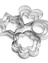 cheap -12PCS Love Star Round Shape Cookie Cutter Tool Cake Mould Cake Mold,Baking Tool