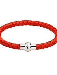 cheap -Men's Women's Leather Bracelet Fashion Simple Style Leather Alloy Round Jewelry For Casual Going out