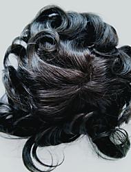economico -pizzo naturale allineato dei capelli umani con il toupee di pu e il hairpiece per gli uomini