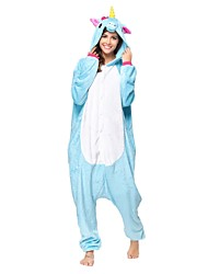 Kigurumi Pajamas Unicorn Leotard/Onesie Festival/Holiday Animal Sleepwear Halloween Blue Animal Flannel Kigurumi For Unisex Halloween