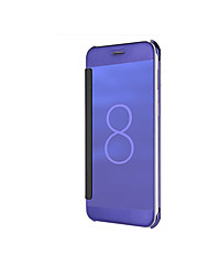 cheap -Case For Samsung Galaxy Note 8 Note 5 Plating Mirror Flip Auto Sleep/Wake Up Full Body Cases Solid Color Hard PC for Note 8 Note 5